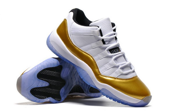 "Air Jordan 11 Low ""Olympic"" Shoes White/Gold Black"