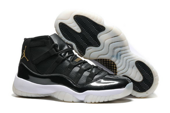 Air Jordan 11 Retro Shoes Black/Gold White
