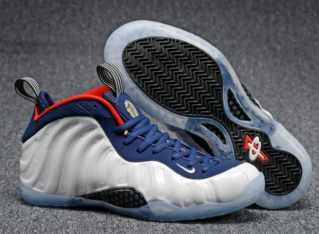 Air Foamposite One 2016 Shoes White/Blue Red Black - Click Image to Close