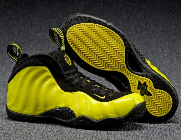 Air Foamposite One 2016 Shoes Yellow/Black - Click Image to Close