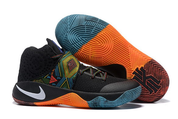 "Kyrie 2 ""BHM"" shoes Black/Orange Blue White"