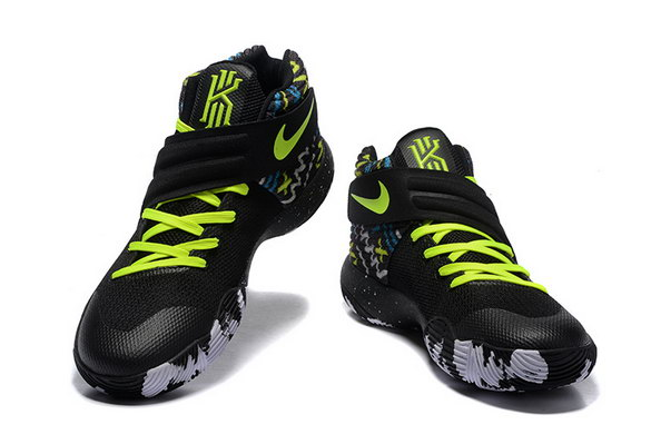 Kyrie 2 Basketball shoes Black/Green Grey