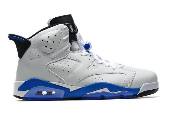 Air Jordan 6 Retro Shoes White/Sport Blue