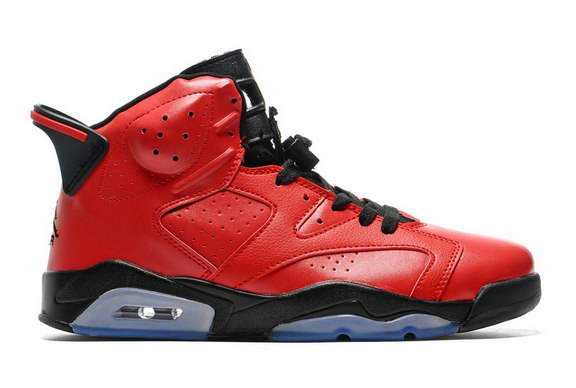 Air Jordan 6 Retro Shoes Hot Red/Black