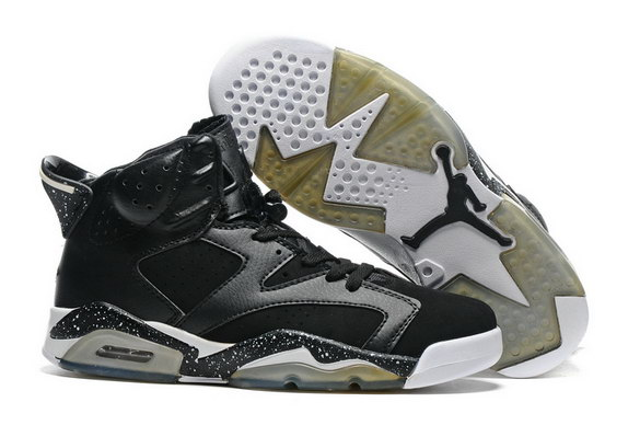 Air Jordan 6 Retro Shoes Black/White
