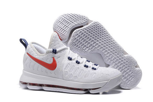 "KD 9 ""Premiere"" Shoes White/Red Blue"