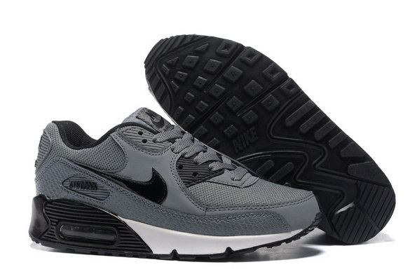 Men's Air Max 90 Shoes Grey/Black White
