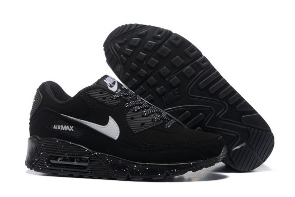 Men's Air Max 90 Shoes Black/White