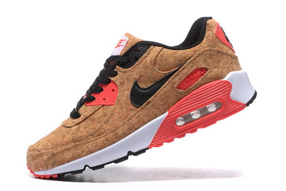 Men's Air Max 90 Shoes Cork/Black Red White