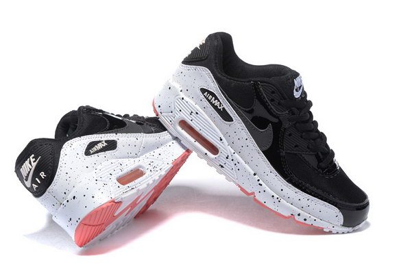 Men's Air Max 90 Shoes Black/Grey Red