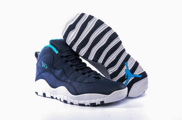 "Air Jordan 10 ""Los Angeles"" City Pack Shoes Ocean Fog/Blue Lagoon Midnight Navy"