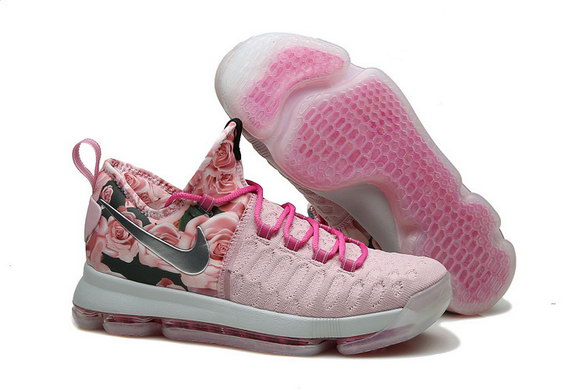 KD 9 Basketball Shoes Pink/Black White