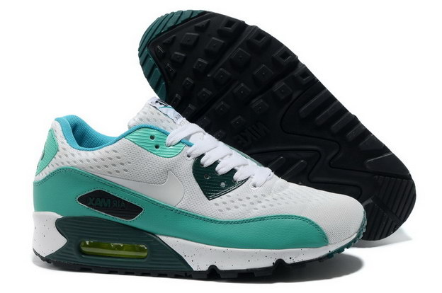 Men's Air Max 90 Premium EM Shoes White/blue green
