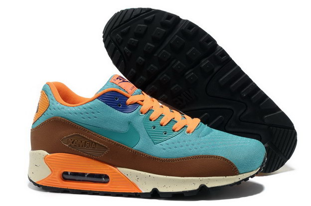 "Air Max 90 ""Rio de Janeiro"" Shoes Blue/brown orange - Click Image to Close"