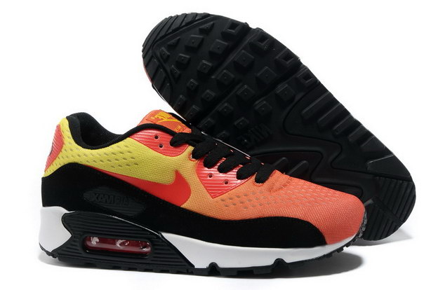 Men's Air Max 90 Premium EM Shoes Red/yellow black white - Click Image to Close