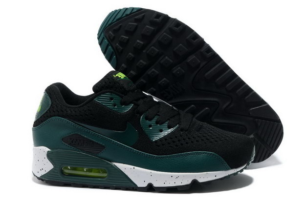 Men's Air Max 90 Premium EM Shoes Black/green white - Click Image to Close