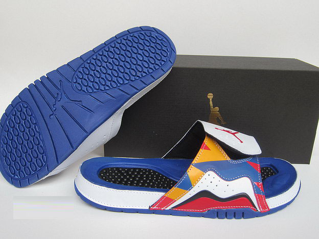 Air Jordan 7 Sandals Shoes Blue/Multi Color