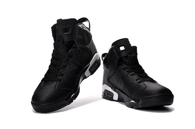 "Air Jordan 6 ""Black Cat"" Shoes Black/White"