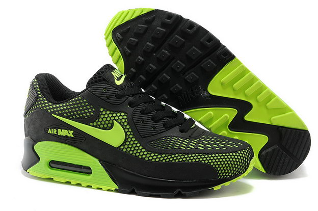 Air Max 90 Shoes Blcak/green