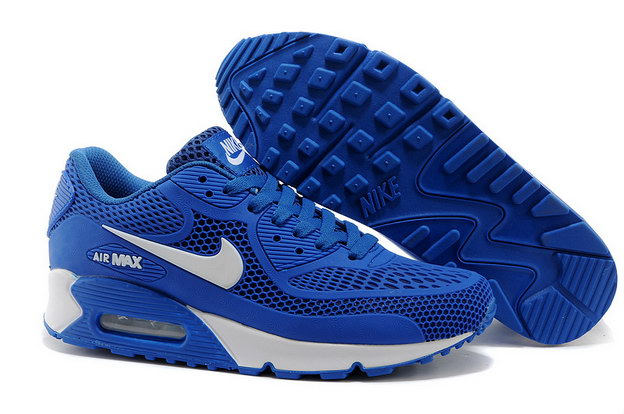 Air Max 90 Shoes True blue/white - Click Image to Close