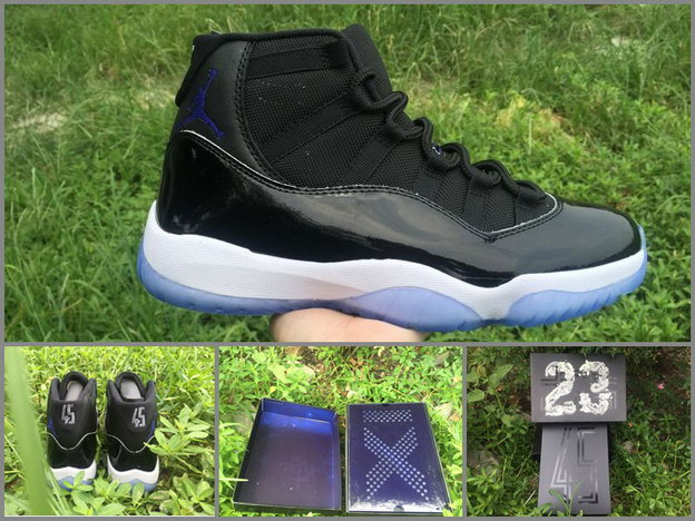 "Air Jordan 11 ""Space Jam 2016"" Shoes Black/Dark Concord White"