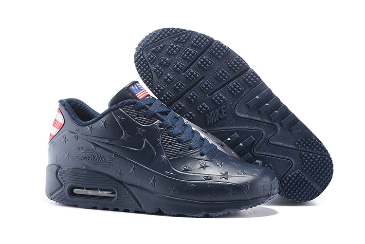 "Air Max 90 Hyperfuse ""Independence Day"" Pack Shoes Dark Blue - Click Image to Close"