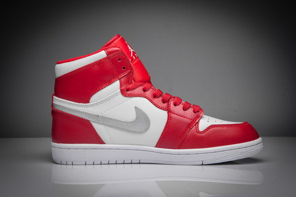 "Air Jordan 1 ""Silver Medal"" Shoes Red/White Silver"