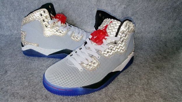 Air Jordan Spike 40 Knicks Shoes White/silver blue black