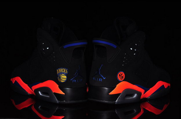 "Air Jordan 6 ""New York Knicks"" Shoes Black/red blue"