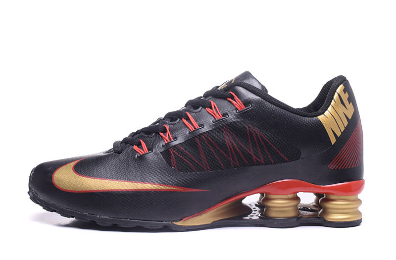 Nike Shox 808 Men Shoes Black Gold