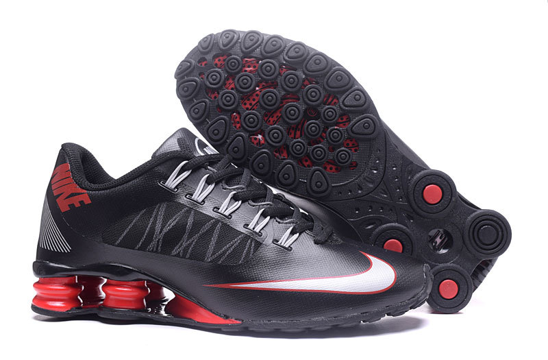 Nike Shox 808 Men Shoes Black White Red - Click Image to Close