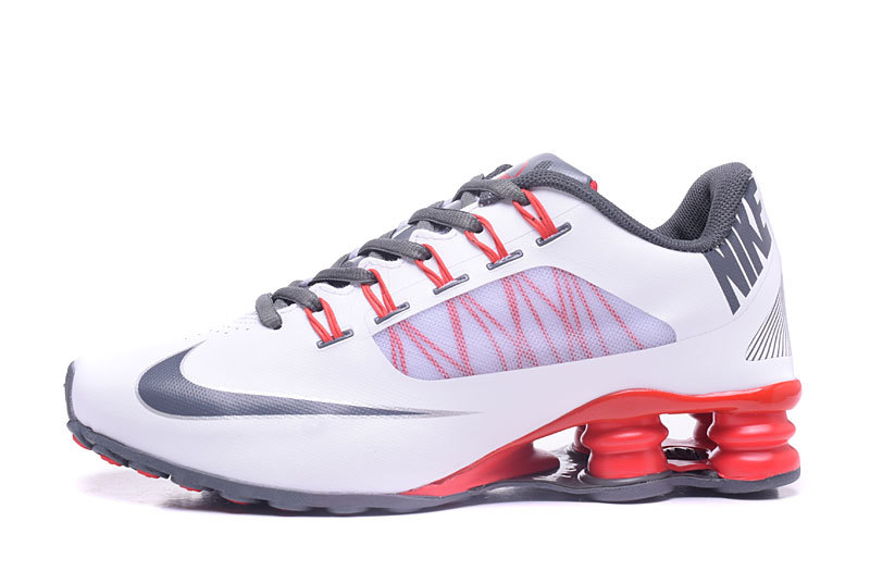 Nike Shox 808 Men Shoes White Silver Red