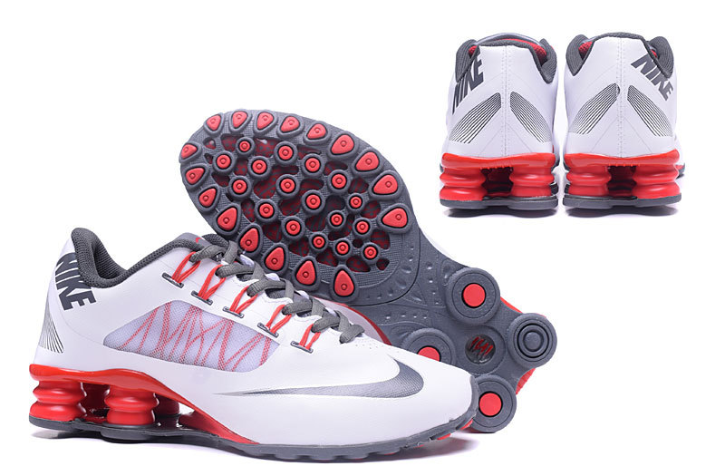 Nike Shox 808 Men Shoes White Silver Red - Click Image to Close