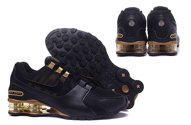 Nike Shox Avenue 802 H110 Men Shoes Black Gold