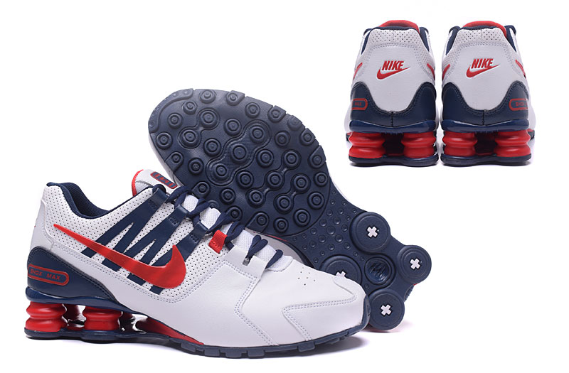 Nike Shox Avenue 803 Men Shoes  White Blue Red