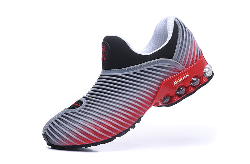 Nike Shox Brushed Men Shoes Gray Red