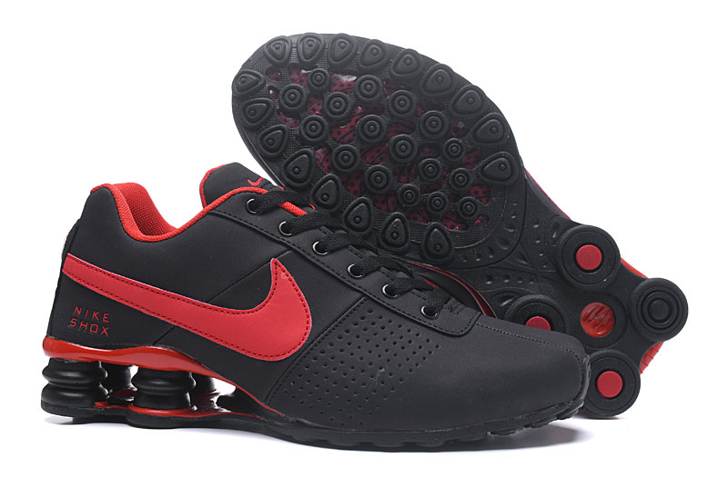 Nike Shox Delive Men Shoes Black Red