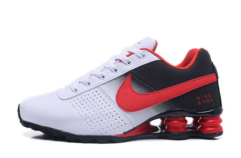 Nike Shox Delive Men Shoes Black White Red
