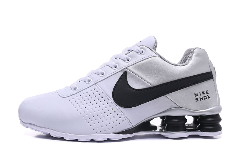 Nike Shox Delive Men Shoes White Silver Black