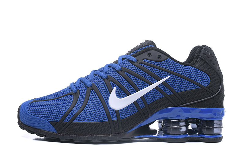 Nike Shox Men Shoes White Blue Black