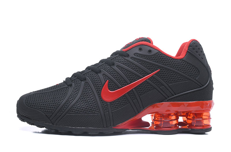 Nike Shox TlX Men Shoes All Black Red