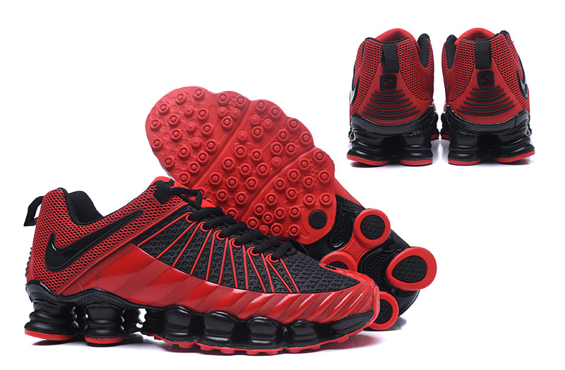 Nike Shox TlX Men Shoes Black Red - Click Image to Close