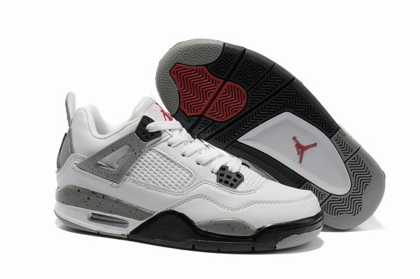 Womens Air Jordan 4 Shoes Light gray/White - Click Image to Close