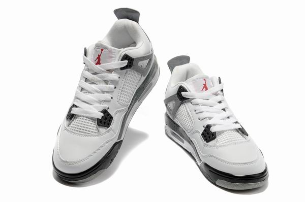 Womens Air Jordan 4 Shoes Light gray/White