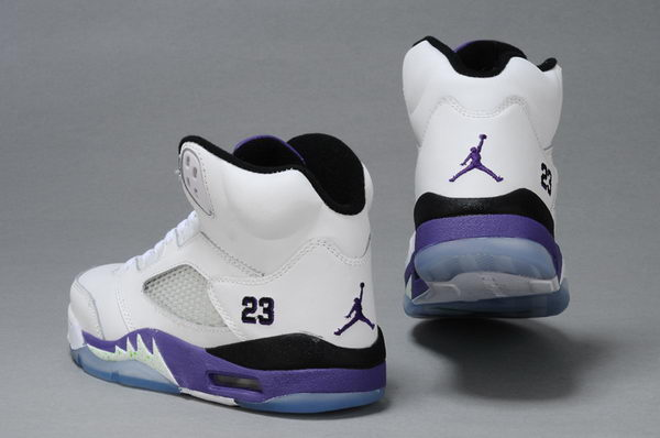 WMS Jordan V Shoes Deep purple/White