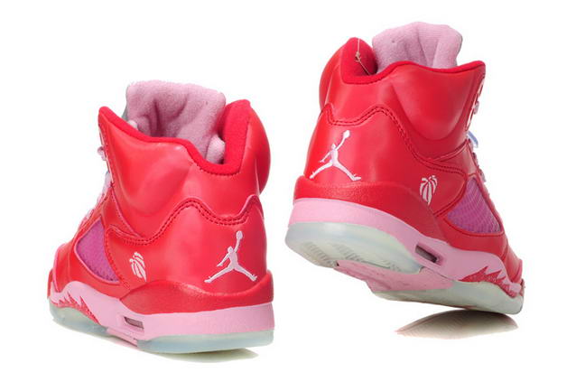 Womens Jordan V Valentines Day Shoes Red