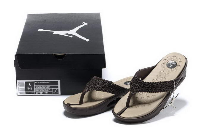 Jordan Women Slippers Shoes Brown