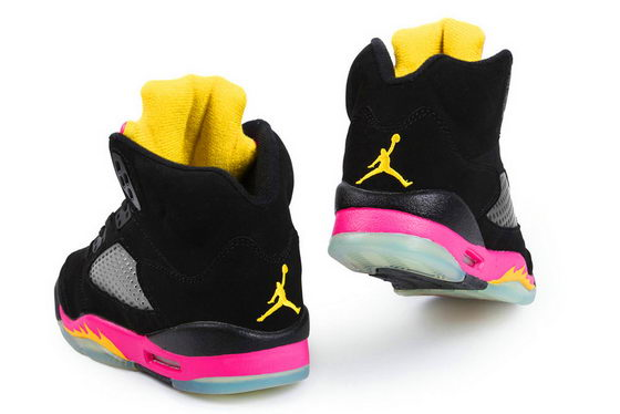 Womens Jordan V Shoes Pink/Black