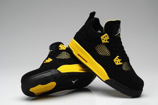 WMS Jordan IV(4) Shoes Yellow/Black