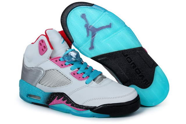 WMS Jordan 5 Miami Shoes Blue/White